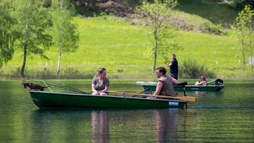Fascinating fishing on lake Weissensee