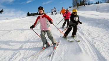 Go skiing with the kids