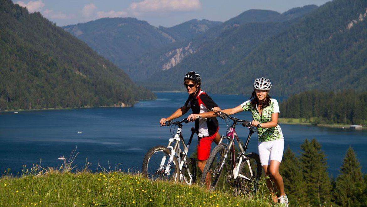 Biking on the Shores of the Weissensee